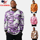 Mens New Camo Camouflage Hoodie Pullover Hooded Sweatshirt Port & Company M-3XL