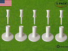 White Golf Rubber Tees Range Driving Practice Mat 5 Pack With 6 Pcs Castle Tee