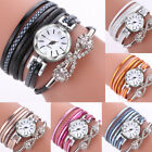 Women Girl Casual PU Leather Band Analog Alloy Quartz Bracelet Wrist Watch CA image