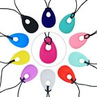 Teething Necklace Baby Teether Autism Sensory Kid Chew Chewy Silicone Pendant US