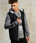 New Mens Superdry Gym Tech Hybrid Jacket Concrete Marl