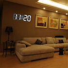 Modern Digital LED Time Display Table Night Wall Clock Watch Alarm 12/24H Snooze