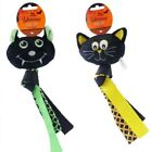 Halloween Fiendish Monster Dog Toy with Squeaker & Tail Black Cat or Vampire