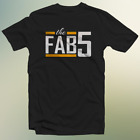 Michigan The Fab Five Basketball Documentary Film T-Shirt Short Sleeve Cotton for sale  USA