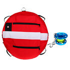 Freediving Buoy & 30m Line Dive Reel for Underwater Scuba Diving Snorkeling