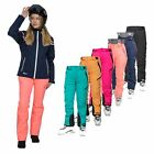 DLX Marisol Women's DLX High Performance Ski Pants In Orange Black Green & Pink
