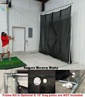 Golf Baffle Net Baseball Fielders Screen or Backstop 10' x10' Optional Frame Kit