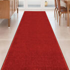 Kyпить Custom Size Stair Hallway Runner Rug Non Slip Rubber Back SOLID RED на еВаy.соm