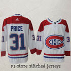 Montreal Canadiens White Hockey Jersey Men Sewn 31 Canadiens Carey Price M 3XL