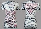 AMERICAN FIGHTER Women T-Shirt ALASKA Athletic WHITE BLACK TIE DYE Biker UFC $40