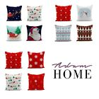 Adam Home 3D Digital Print Christmas Cushion Pillow Covers In Pack Of 4