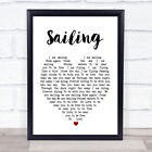 Sailing Heart Song Lyric Quote Print