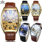 Men's Watches Genuine Leather Strap Luxury Automatic Mechanical Wrist Watch USA