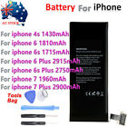 Battery For iPhone 4s 6 6s Plus 7 7plus New Internal Replacement w/Tool Kit