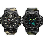 SMAEL Mens Camouflage Military Sport Analog Digital Quartz Alarm Chrono Watch US