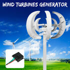 600W 12/24V Wind Turbine Generator Lantern 5 Blade Vertical Axis With Controller