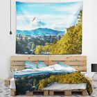 Designart 'Old Town and Hills in Tbilisi' Landscape Wall Tapestry