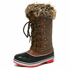 DREAM PAIRS Women Waterproof Fur Lined Mid Calf Winter Hiking Outdoor Snow Boots