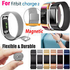 For Fitbit Charge 2Replacement Magnetic Loop Strap Stainless Steel Wrist Band FA image