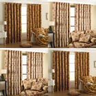 Paoletti Zurich Floral Chenille Jacquard Lined Eyelet Curtains