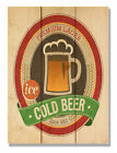 Daydream HQ 'Cold Beer' Vintage Advertisement on Wood