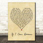 Elvis Presley If I Can Dream Vintage Heart Song Lyric Quote Print