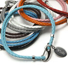 Leather Double Wrap Bracelet - Unisex - 9 Colors - Personalised Engraved Gift