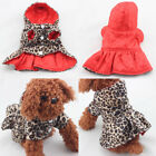 Small Puppy Cat Hoodie Dog Cotton Coat Pocket Pet Winter Clothes Warm Jacket