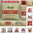 Soft Plush Throw Pillow Case Cushion Covers Christmas Tree Reind 18x18 Inches Uk