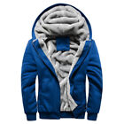 Herren Mantel Strickjacke Zipper Fleece Jacke Winter Warme Sweatshirts Kapuze
