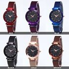 women Starry Sky Masonry Watch Mesh Magnet Strap Buckle Stainless Luxury Watch image