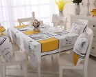 Elegant Rectangle Cotton Linen Dinning Coffee Table Cloth Covering RAUt #jd1895