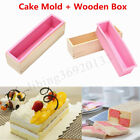 1/2Pcs Silicone Soap Mold Wooden Box Loaf Cake Maker Molds Cutting Slicer Cutter