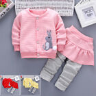 2pcs Toddler Kids Baby Girl Tops Coat Sweatshirt With Long Pants Outfits Clothes