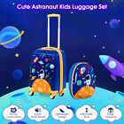 """2PC Kids Luggage Set 16""""/18""""Suitcase+12""""Backpack Carry On Bag Travel Cover Gif"""