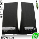 2x Altavoces Multimedia PC Ordenador Portatil DVD 350Watt Amplif 10W Jack 3.5...