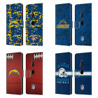 OFFICIAL NFL 2018/19 LOS ANGELES CHARGERS LEATHER BOOK CASE FOR SONY PHONES 1
