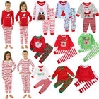 Внешний вид - US XMAS Toddler Kids Boy Girl Elk Sleepwear Nightwear Christmas Pyjamas Pajamas