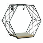 Iron Geometric Grid Wall Hanging Shelf Rack Storage Holder Home Wall Decor New