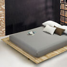 Solid Bedding Linens Bed Sheets With Elastic Band Double Queen Size 180X200CM