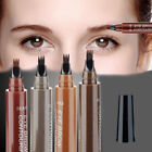 4 Head Eyebrow Pencil Waterproof Fork Tip Fine Sketch Liquid Enhancer Tattoo Pen
