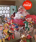 Coca-Cola - Santa Toys - 1953 - Promotional Advertising Poster $32.99  on eBay