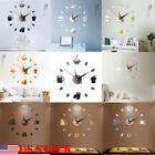 Modern Large Wall Clock 3D Mirror Sticker Unique Big Number Watch DIY Decor USA