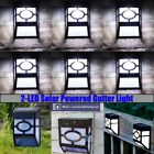6x LED Solar Powered Light Outdoor Garden Security Wall Fence Gutter Yard Lights
