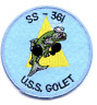 "3"" NAVY USS GOLET SS-361 EMBROIDERED PATCH"