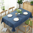 Solid Tablecloth Macrame Lace Table Cloths Rectangle Cotton Linen Covers 6A