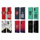 CUSTOM ARSENAL FC PERSONALISED GRAPHICS LEATHER BOOK CASE FOR SAMSUNG PHONES 1