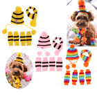 Dogs Knitted Striped Hats Scarf Socks Christmas Pet Cat Puppy Accessories