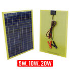 Solar Panel Module Cable Battery Charger 12V Trickle Charger Camping Fence Gate