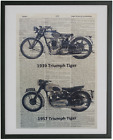 Triumph Motorcycle Print No.435, triumph decals, motorcycle art $15.44 CAD on eBay